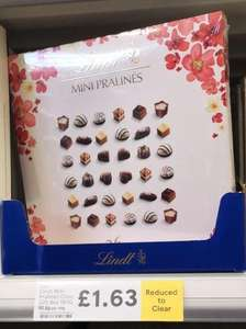 Lindt Mini Pralines gift box 180g £1.63 in store at Tesco