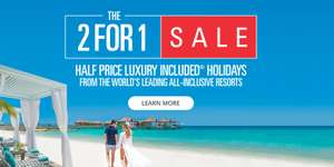 Sandals 2 for 1 Luxury holiday sale (holidays up to 2021)