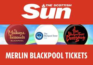 2 x Free Blackpool Attraction Tickets in  The Scottish Sun