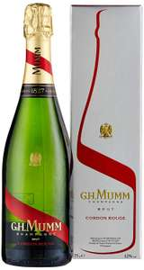 GH Mumm Cordon Rouge Brut Champagne with Gift Box, 75cl £24 @ Amazon
