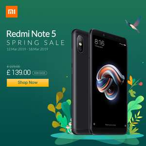 Xiaomi Spring Sale on mi.com - Including Redmi Note 5 £139, Redmi Note 6 Pro £179