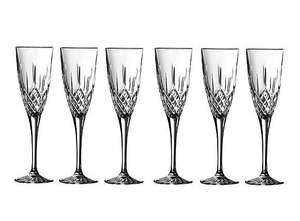 Royal Doulton Earlswood Set of 6 Champagne Flutes for £20 @ Dunelm (P&P £3.95)