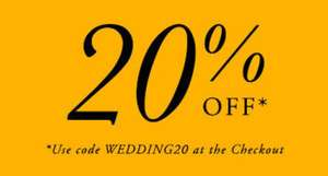 20% off Wedding Rings at Goldsmiths