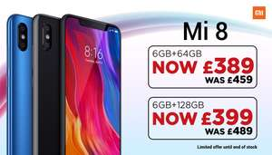 Mi Store London Deals including Mi 8 £399, Poco £289, Redmi Note 6 Pro £169, Redmi 6 £129