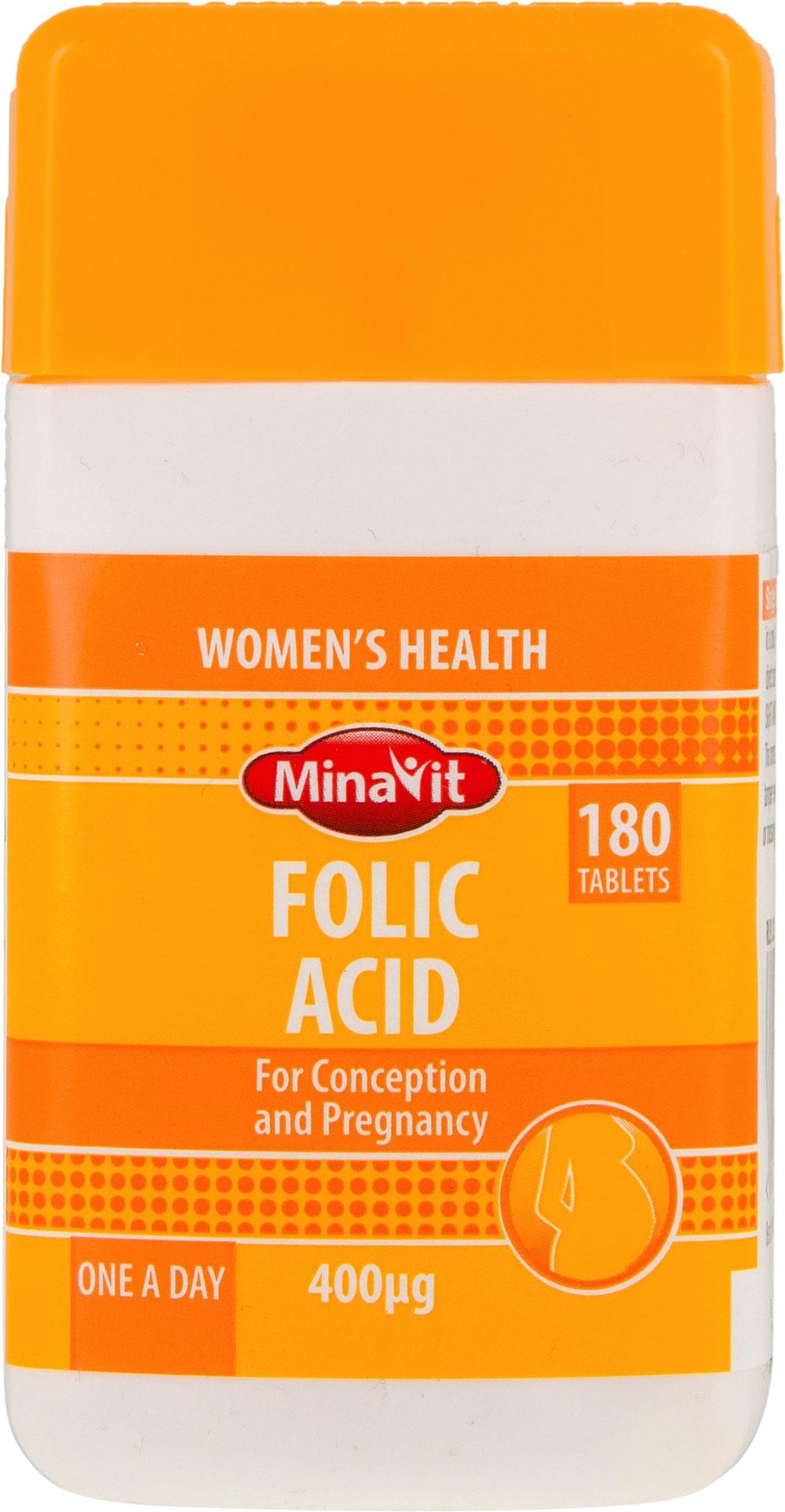 MinaVit Folic Acid Tablets (180 x 400ug) at LIDL - 75p