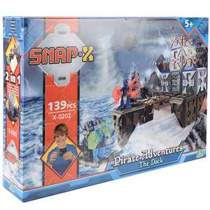 Snap X Pirate Adventures The Dock Play Set 139 Pieces @ XS Stock.Co.uk £8.98 Delivered