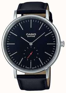 CASIO  SAPPHIRE CRYSTAL BLACK LEATHER WATCH LTP-E148L-1AEF £49.00 @ Chappelle Jewellers