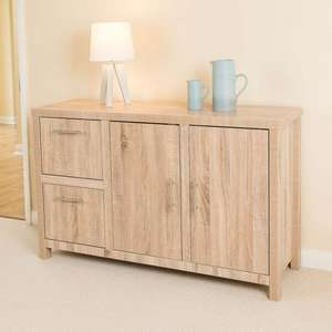Christow Oak Effect 2 Door 2 Drawer Sideboard @ Thisisitstores.Co.uk £84.99 Delivered