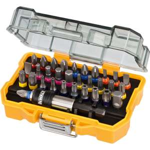 Dewalt Screwdriver 32 Piece Bit Set Was £14.99, Now £9.99 Free next day delivery for orders over £10 or free C&C  @ Toolstation