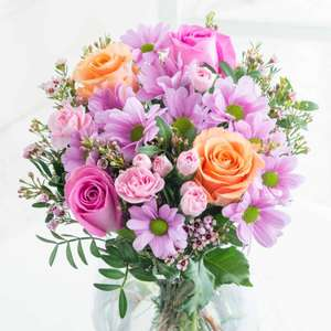 Purple shimmer Rose and Carnations. £14.03 Flying Flowers Free delivery.