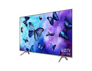 Samsung QLED 55 inch ultraHD, 4K Quantum Dot  LED TV. 2018 model. 5 years guarantee. Q6 model £839.99 districtelectricals or Samsung direct