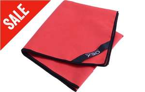 Red Microfibre Trekking Body Towel - Collection Only 1200mm x 600mm -  £3 at Go Outdoors - free c&c