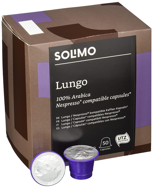 Amazon Brand Solimo Nespresso* Compatible Lungo capsules (100 capsules) - £7.93 / 8p/capsule (+£4.49 non Prime) @ Amazon