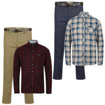 Men's Chino's, belt and flannel shirt for £20 with code + £1.99 delivery under £30 @ Tokyo Laundry