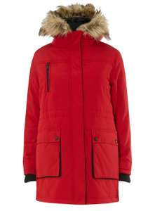 Dorothy Perkins red parka was £65 now £20 at Dorothy Perkins (free C&C)