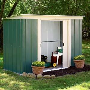Rowlinson 6 x 4 Greenvale Metal Pent Shed With Floor for £129.99 delivered @ Robert Dyas