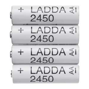 IKEA LADDA Rechargeable AA batteries: 2450mAh high capacity, pre-charged, low self-discharge  £5.50