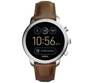 Fossil Q Gen 3 Smart Watch - Chrome / Brown Leather @ Argos for £139.99