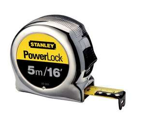 Stanley 5m tape measure in selected Wickes stores for £5