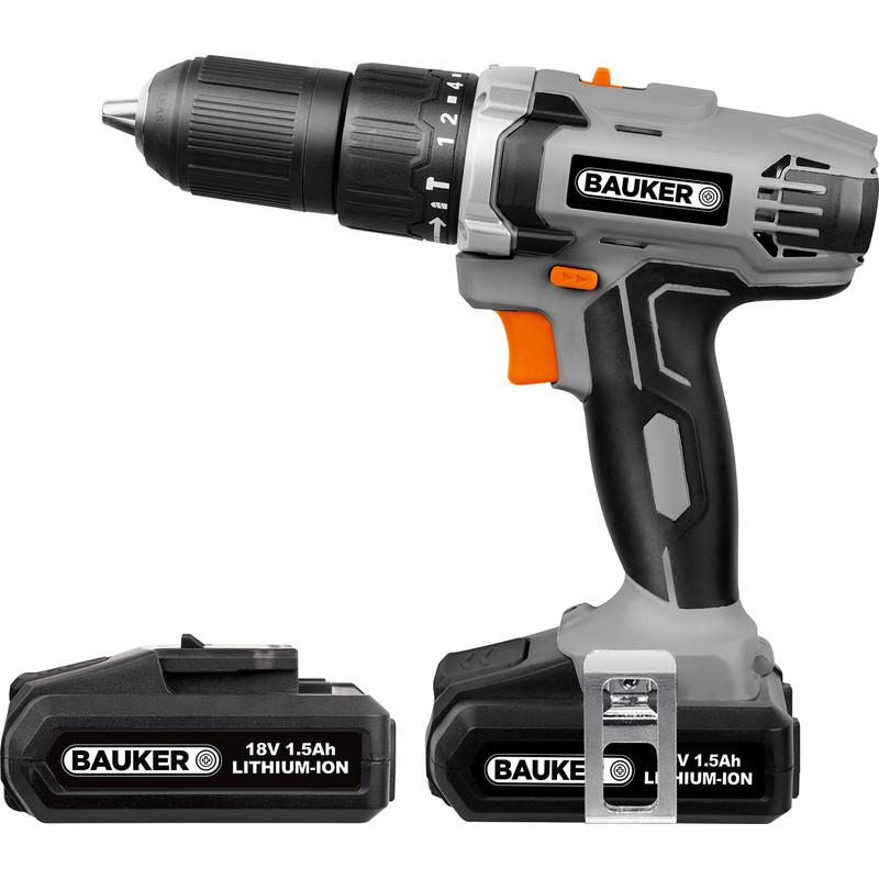 Bauker 18V Li-Ion Cordless Combi Drill 2 x 1.5Ah £49.48 @ Toolstation
