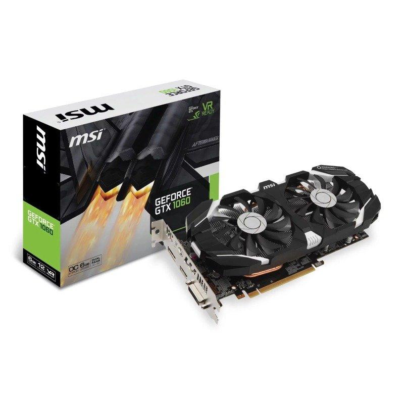 MSI GeForce GTX 1060 6GB GDDR5 OC V1 Graphics Card, £184.99 at ebuyer (Free fortnite gear)
