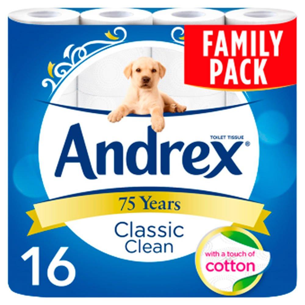 Andrex Classic Clean Toilet Tissue 16 Rolls 2 Ply £6.00  ( free C&C ) @ Wilko