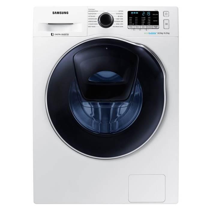 Samsung AddWash WD80K5B10OW/EU 1400 Spin 8kg+6kg Washer Dryer in White at Co-Op Electrical £455
