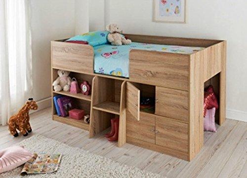 Clifton Kids Cabin Bed - Light Oak Colour £100 @ B&M