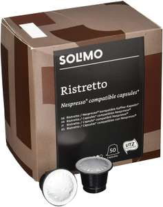 Amazon  Solimo Nespresso* Compatible Ristretto capsules, 100 capsules (2 x 50)  pods £10.83 (Prime) / £15.32 (non Prime) at Amazon