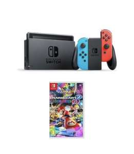 Nintendo Switch Neon Red & Mario Kart 8 Deluxe Bundle £262.21 with code at Currys eBay