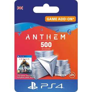 Anthem 500 Shards Pack, PlayStation 4 and Xbox One (Digital Download) £3.99 @ Smyths