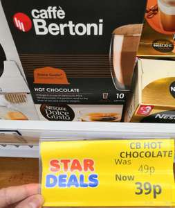 Caffe Bertoni Dolce Gusto compatible hot chocolate (10 capsules) instore at Poundstretcher for 39p