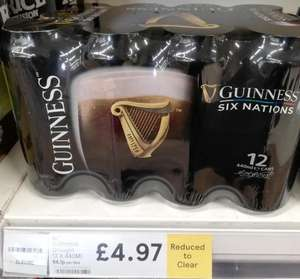 Guinness 12 cans for £4.97 in  tesco instore