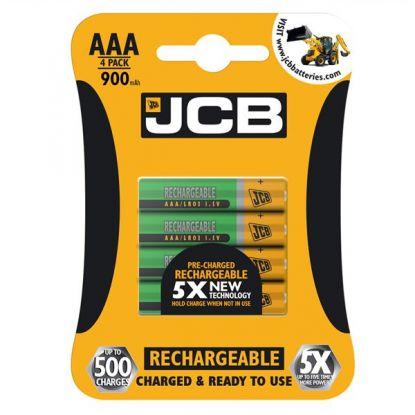 JCB AAA 900mAh 4pk Pre-charged LSD NiMH Batteries @ Battery-Force: bulk buy bargain - £2.25ea + £1.95 2nd class P+P e.g. £10.95 for 16