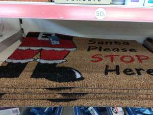 Santa Please Stop Here! Coir doormat - 50p @ Poundland