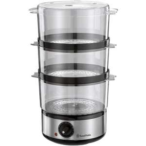 Russell Hobbs  7 Litre 3 Tier Steamer in Brushed Stainless Steel Was £24.99, No £14.99 Delivered @ Co-op electrical  ( 1 Year Guarantee )