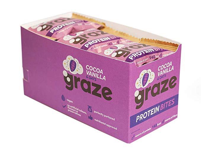 Graze Cocoa Vanilla & Oats Vegan Protein Bites 30g (Pack of 15) - £5.63 (Add on) £5.35 (S&S) @ Amazon