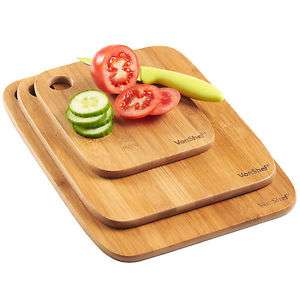 VonShef Wooden Chopping Board Set 3 Cutting Slicing Boards + 2 year warranty delivered -£8.54 @ eBay sold by domu-uk