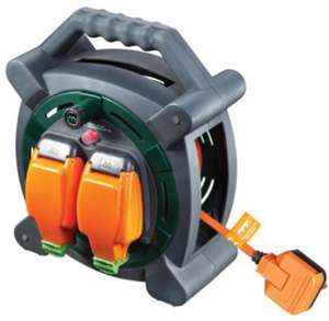 Masterplug Weatherproof Garden Extension Cable Reel - 20m £23 @ Wickes C&C