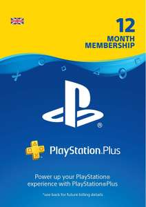 PlayStation Plus: 12 Month Membership | PS4 | PSN Download Code for UK accounts £37.49 (Poss 24 months for same price) @  Amazon