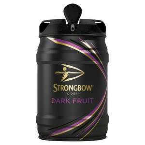 Strongbow Dark Fruits Cider Keg 5L - In store £7 @ Asda