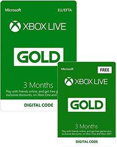 Buy 3 Months Xbox Live Gold, get 3 Months free (6 months) download code £14.99 @ Amazon