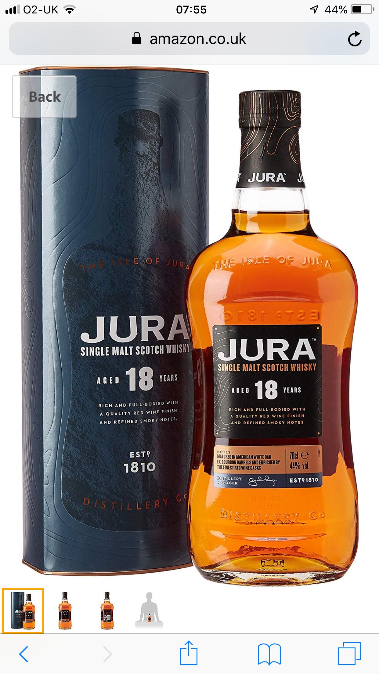 18 year old Jura Single Malt Whisky 70cl £51.99 @ Amazon