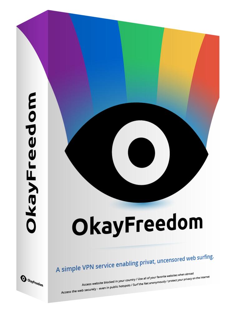 FOR PC  WINDOWS OkayFreedom VPN Premium hides your real IP address online