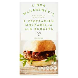 Linda McCartney Mozzarella Quarter Pounder Burger £1 @ Morrisons