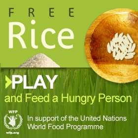 Get clever AND feed the hungry - every question you get right, 10 grains of rice will be donated @ Free Rice