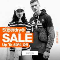 Now live - Superdry upto 50% off sale with free delivery & returns eg Storm quilted hoodie was £79.99 now £40 @ Superdry
