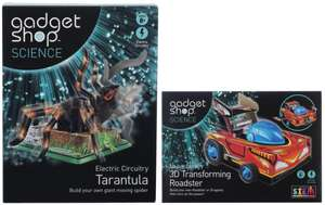 Gadget Shop Science Electric Tarantula & 3D Transforming Roadster £15.48 with code HIGHFIVE @ WHSmith (Free C&C / £2.49 Delivery)