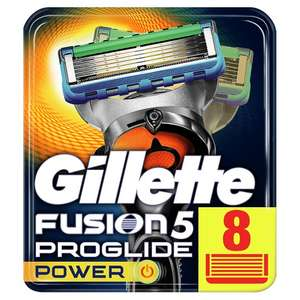 Gillette Fusion 5 Proglide Power blades x 8 at Tesco for £14