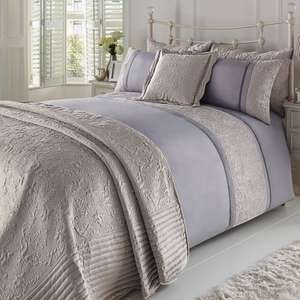 MASSIVE Saving Velvet Ribbon Duvet Set Pink Kingsize £11.79 + £4.99 P&P @ Studio